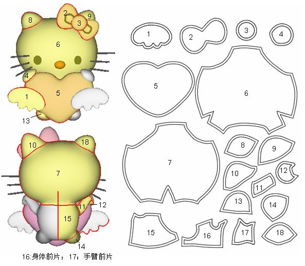 Игрушки подушки коты своими руками с выкройками